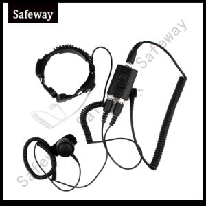 Military Throat Microphone Headset for Kenwood Two Way Radio pictures & photos