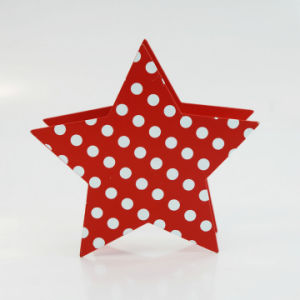 New Cheap High-Quality Metal Christmas Star-Shaped Candle Holder pictures & photos