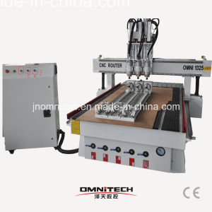 1325 Multi Heads 4 Axis CNC Router with Rotary