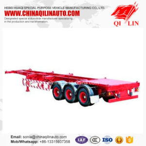 2017 Hot Sale 3 Axles 40FT Skeleton Semi Trailer with Gooseneck pictures & photos