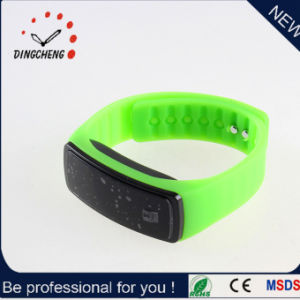Simple Silicone Unisex Mute LED Watches, Watch Manufacturer Mirror LED LCD Wrist Bangle pictures & photos