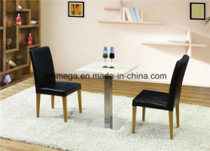 Two Persons Solid Surface Coffee Shop Furniture Set (FOH-BCA88) pictures & photos