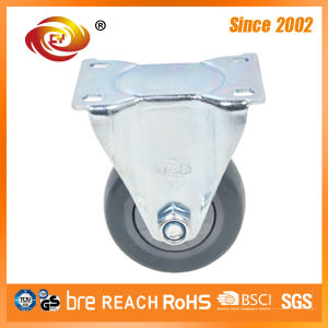 3 Inch Grey PU Fixed Medium Duty Caster Wheel