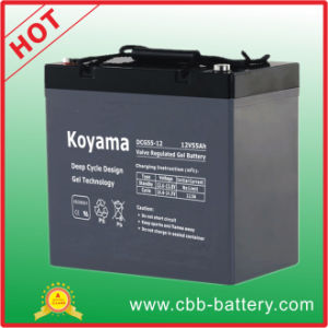 55ah 12V Deep Cycle Gel Accumulators/ Battery for Material Handling pictures & photos
