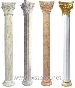 Marble / Granite Columns, Stone Column and Pillar In Travertine pictures & photos