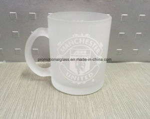 11oz Frosted Glass Mug with Team Logo Printing
