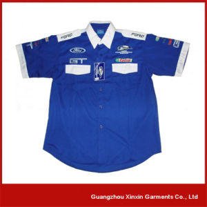 Custom Design Staff Shirts Uniform for 4s Gas Shop (S34) pictures & photos
