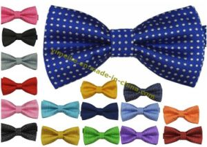 Fashion Plain Jacquard Dots Polyester Bowtie Party Neckwear pictures & photos