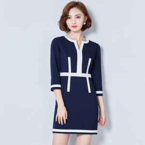 New Design Fashion Summer Lady Long Sleeve Slim Fit Dresses pictures & photos