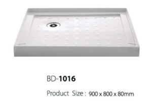 Small Long Left Corner Drain Shower Base (BD-1016) pictures & photos