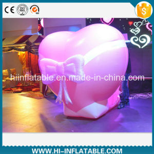 Hot-Sale Wedding Event Inflatable Pink Heart Decoration