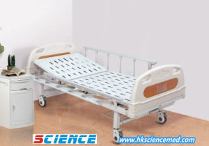 Cheap One Function Steel Manual Hospital Bed pictures & photos