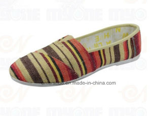 Injection Ladies Flat Comfort Shoes with Fabric (ET-MY170436W) pictures & photos