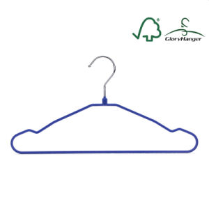 Ultra Thin Metal Wire Hanger with Velvet Covring pictures & photos