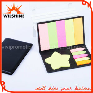 High Quality PU Cover Fluorescent Sticky Notes for Promotion (PN237) pictures & photos