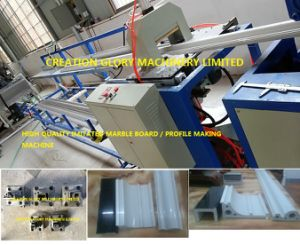 High Precision PVC Marble Profile Extrusion Production Line pictures & photos