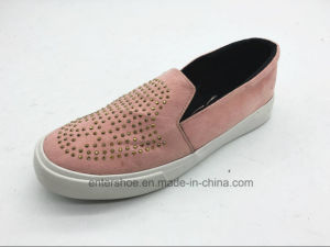 Rubber Sole Casual Children Shoes with Crystals (ET-LH160276K) pictures & photos