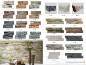 Colorful Slate and Quartize Stone Veneer Culture Stone for Wall pictures & photos