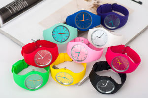 Plastic Cement Candy Color Simple Rubber Environmental Protection Watch pictures & photos