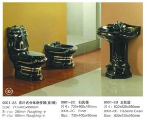 Hot Luxury Style Sanitary Ware Seat Toilet (0001-3A) pictures & photos