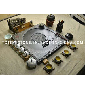 Modern Design Polished Granite Stone Tea Tray Set for Sale pictures & photos