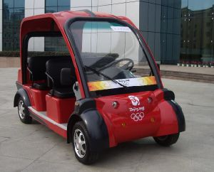 Trojan Battery Operated Electric Vehicle 4 Seats Sightseeing Bus with CE Certificate From Dongfeng Motor
