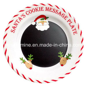 Christmas Santa Melamine Dinner Plate (PT164) pictures & photos