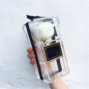 Customized Shaped Clear Acrylic Flower Box for Gift pictures & photos
