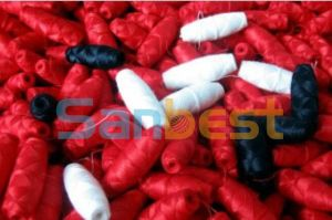 100% Colorful High Tenacity Polyester Cocoon Bobbins Thread pictures & photos