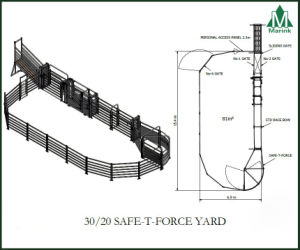30/20 Cattle Panel Yard System with Safe T Force pictures & photos