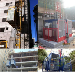 China Red Double Cages Sc200/200 Construction Machinery Hoist with Load 4t pictures & photos