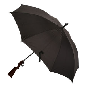 Auto Open Black Gun Shape Straight Umbrella (JS-020) pictures & photos