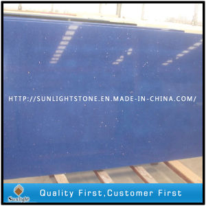 Brazil Hot Plain blue Color Artificial Quartz Stone Slabs pictures & photos