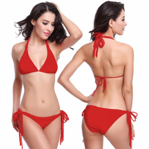 Women Pattern Triangle Bikini Set pictures & photos