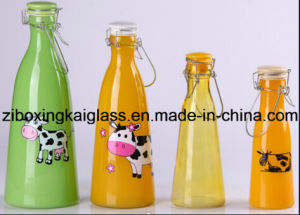 Glass Bottle with Spraying and Decal