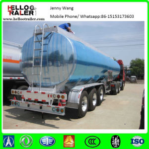 Tri Axle 42000liters Fuel Aluminum Tank Trailer pictures & photos