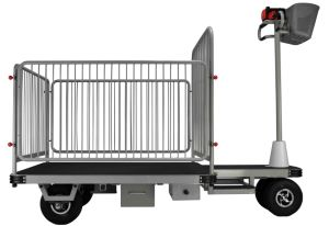 Cargo Trolley in Warehouse (DH-PS1-G5 Removable Small Fence, Chinese Controller, 500W Motor)