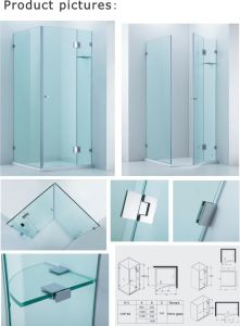 10mm Glass Thickness Shower Enclosure/Sanitary Ware (Cvp062) pictures & photos