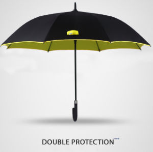 Two Double Layer Long Shaft Strong Straight Umbrella