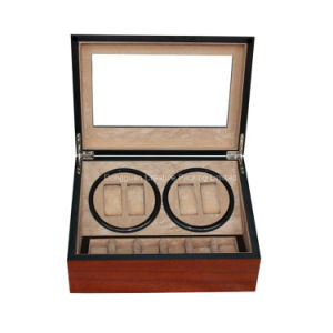 4+6 Cherry Wood Matte Lacquer Automatic Watch Winder pictures & photos