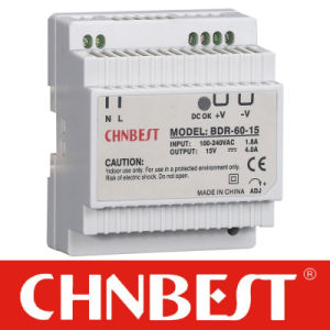 60W 15V DIN Rail Switching Power Supply (BDR-60-12) pictures & photos