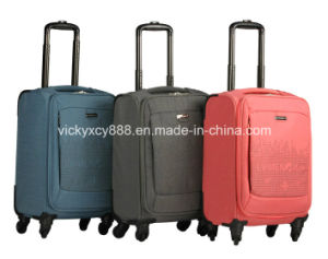 Polyester Wheeled Case Trolley Luggage Travel Suitcase Bag (CY6916) pictures & photos