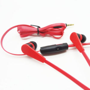 Flat Cable in-Ear Earphone Earbuds with Mic for iPhone (YFD32)