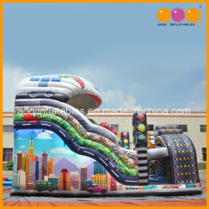 Aoqi Inflatable Product Traffic City Slide Car Slide in 2017 Euro Attractions Show (AQ01812) pictures & photos