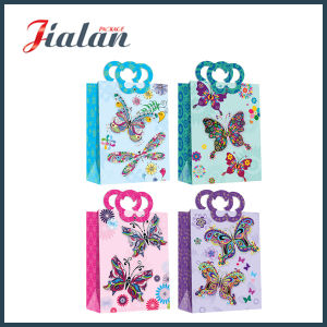 Gift Packaging Ribbon Bow Customize Logo Paper Bag with Magnet pictures & photos