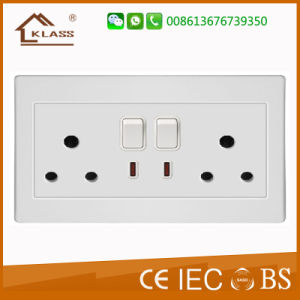 13A Mf 2gang Electric Switch Socket with Dual USB Port pictures & photos
