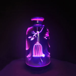 Ultrasonic 3D Glass Mute Aromatherapy Ultrasonic Essential Oil Aroma Diffuser pictures & photos