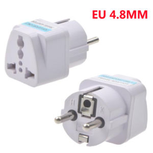 Universal Euro Travel Plug Adapter 4.8mm EU Plug 10A 250V AC Converter Plug pictures & photos