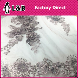 High-Qaulity 3D Bead Pearl Fabric pictures & photos