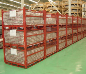Stackable Steel Wire Mesh Pallet Cage pictures & photos